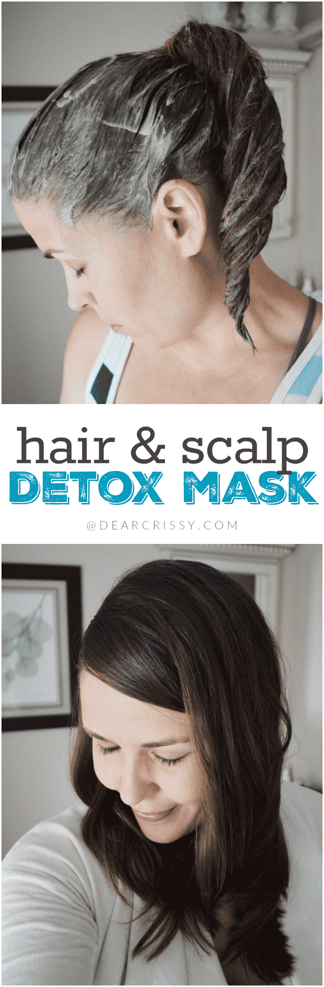 Hair & Scalp Detox Mask - This easy DIY clay detox mask will detoxify and purify your hair and scalp, leaving it soft, smooth and ultra-clean.