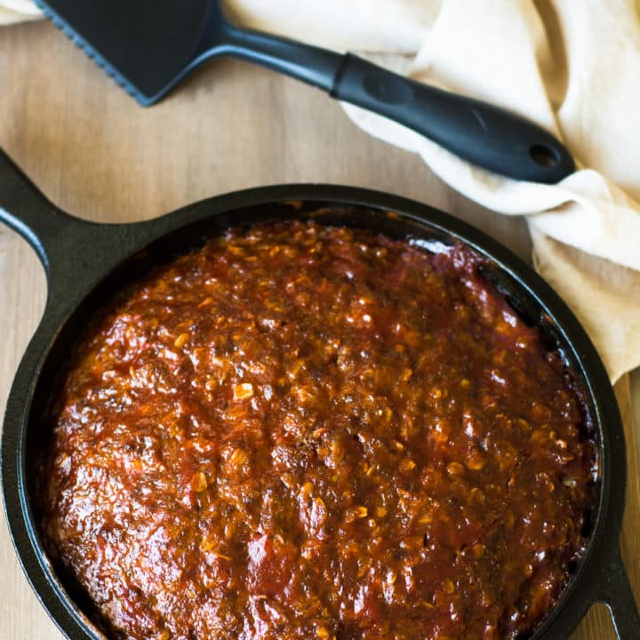 Old Fashioned Skillet Meatloaf
