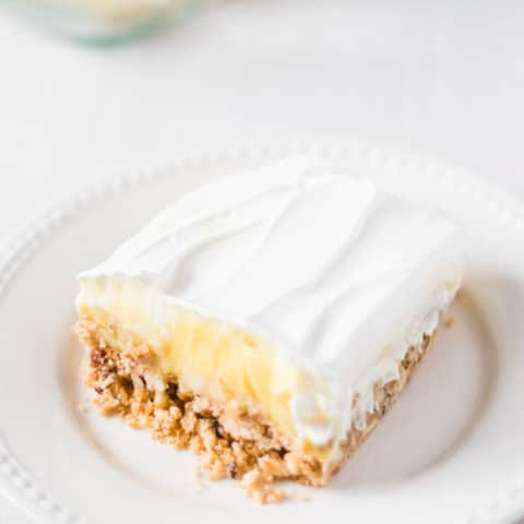 Triple Layer Banana Cream Pie - Sweet, cool and creamy layers make up this divine banana cream pie, and its crispy crust send it over the top!