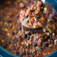Clean Eating Turkey Chili Recipe - This simple turkey chili recipe is better for you and perfect for the crock pot this fall!