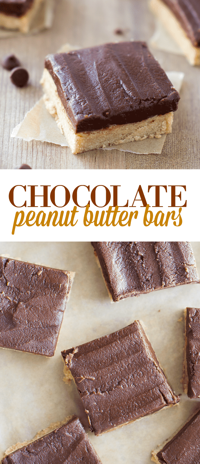 Chocolate Peanut Butter Bars - These chewy bars are the perfect combination of peanut butter, chocolate and a hint of coffee flavor. This is my favorite easy dessert bar.