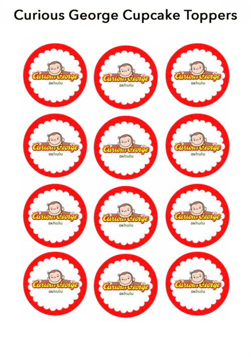 Curious George Banana Cupcakes Recipe + Printable Cupcake Toppers - This Curious George inspired banana cupcakes recipe is perfectly delicious and perfect for your little Curious George fan!