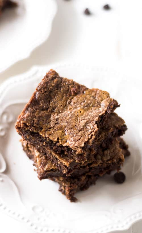 Grandma's Chewy Caramel Brownies - These rich, dense and decadent caramel brownies are made with a German chocolate cake mix and lots of love. Best brownies ever, just ask the grandkids!