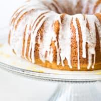Lemon Bliss Bundt Cake Recipe - This moist, lemony bundt cake recipe is truly delicious. The lemon glaze just sends it over the top!