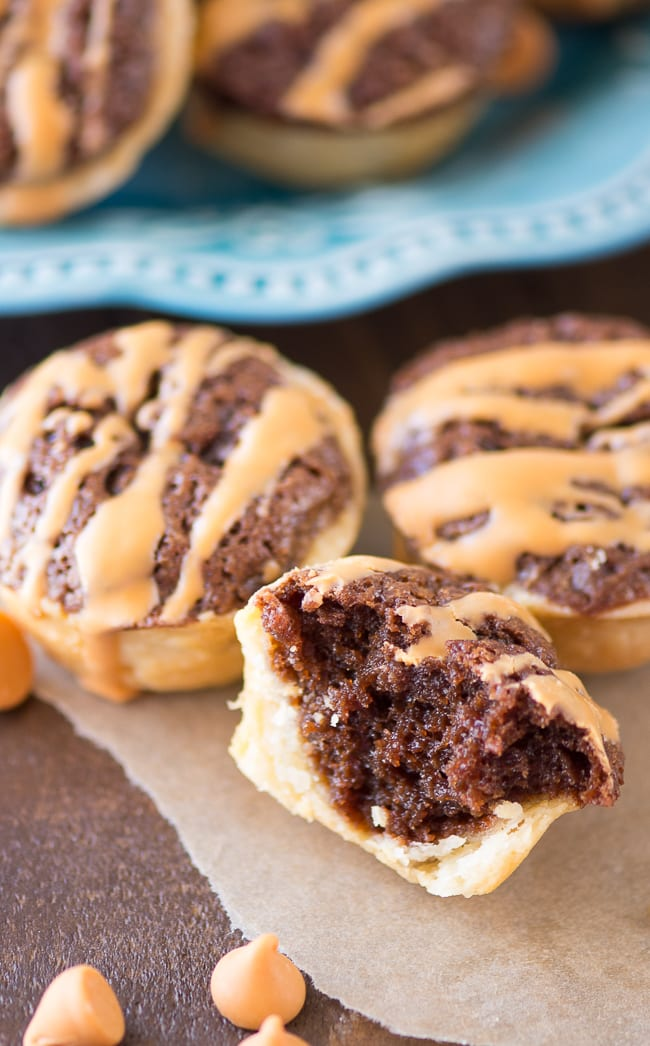 Butterscotch Tassies - These charming little miniature chocolate and butterscotch pies are the perfect bite-size dessert.