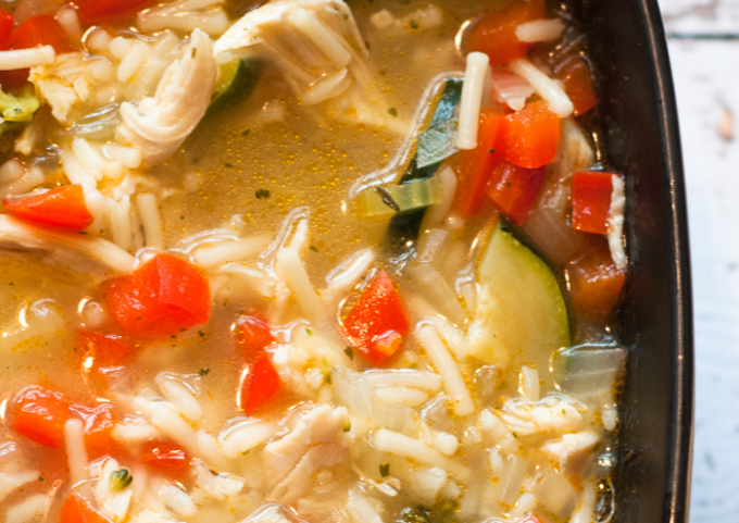 Chicken Rice Veggie Soup