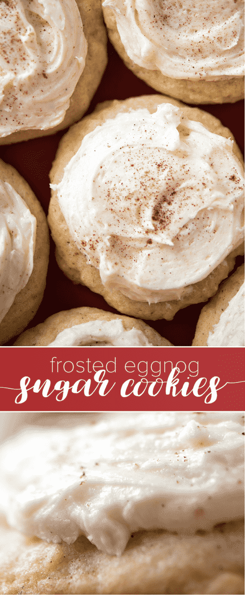 Frosted Eggnogg Sugar Cookies