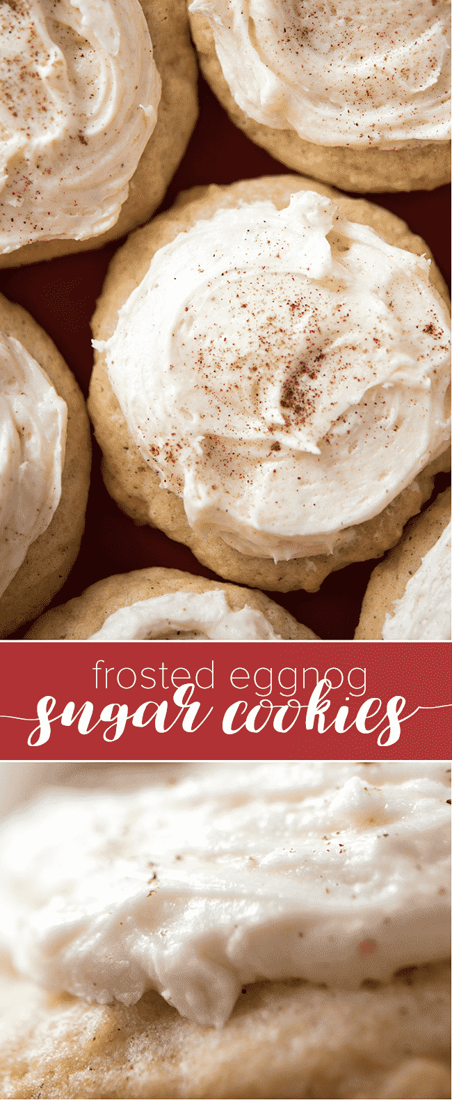 Frosted Eggnogg Sugar Cookies - These tender and delicious eggnog cookies will melt in your mouth this holiday season!