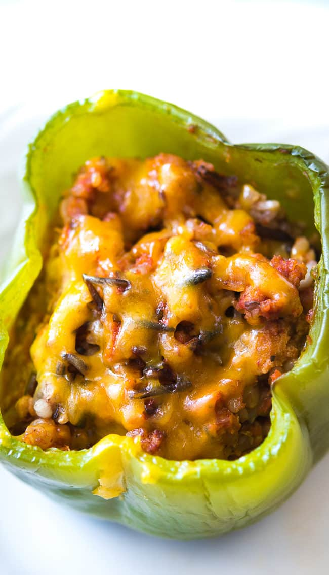 Ground Turkey Stuffed Peppers Recipe - This no-fuss stuffed peppers ...