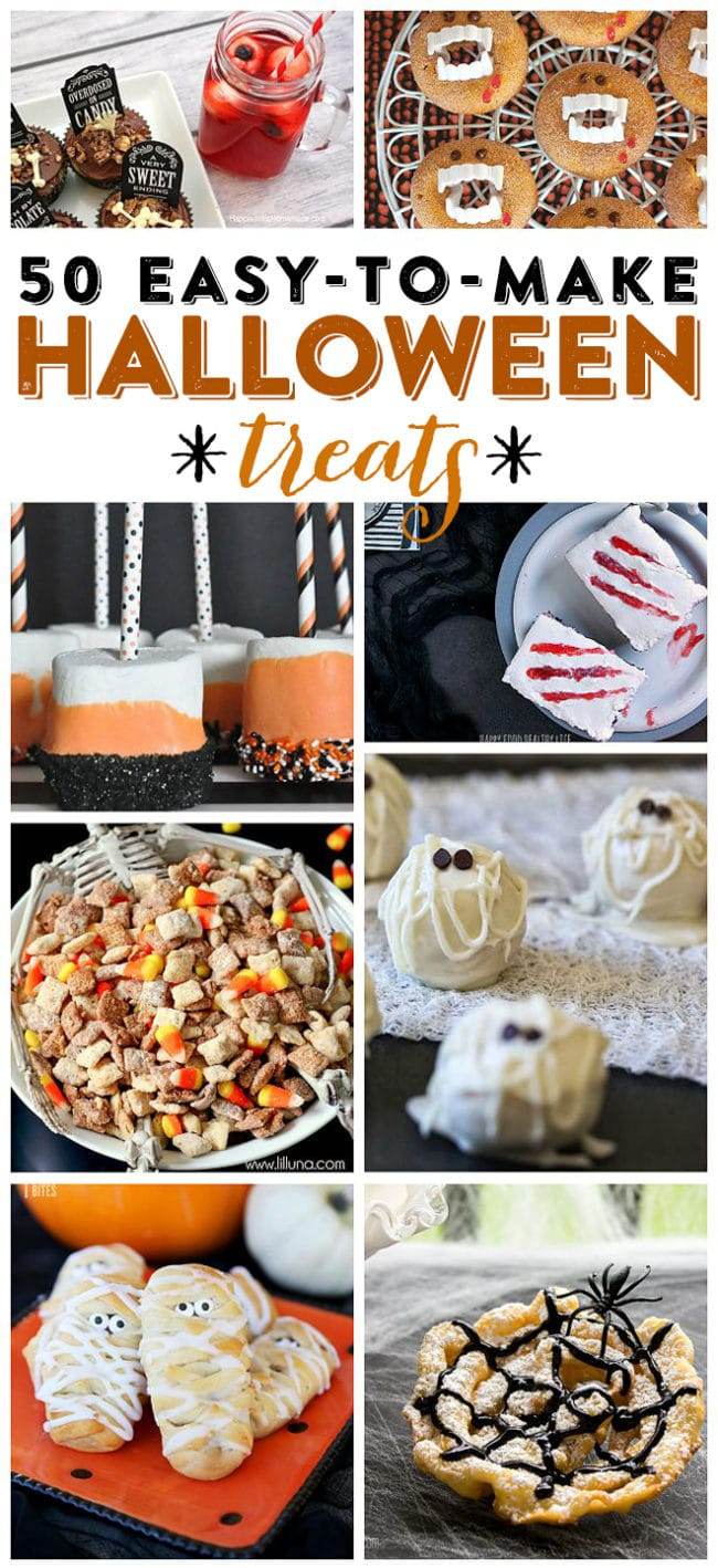 halloween treats 50 easy to make halloween treats