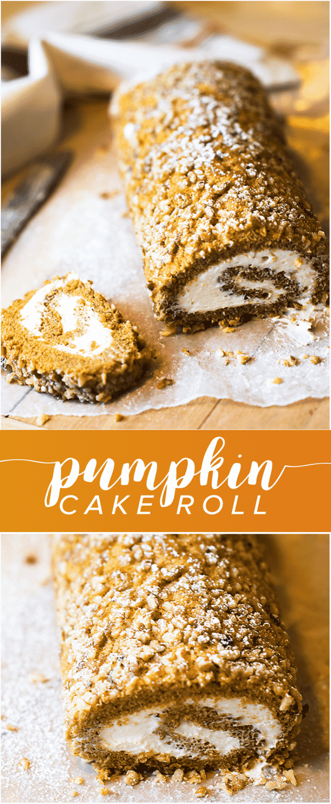 Pumpkin Cake Roll Recipe - Making a pumpkin roll isn't as hard as you think! This yummy pumpkin cake roll is a family favorite every fall.