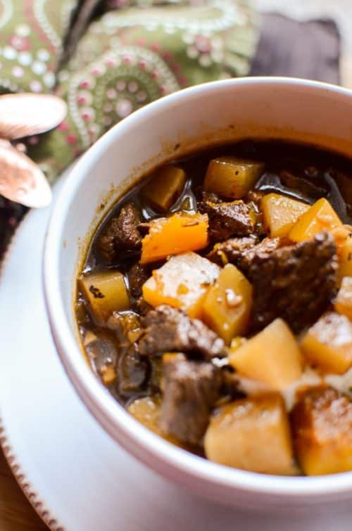 Beef And Root Vegetable Stew Recipe