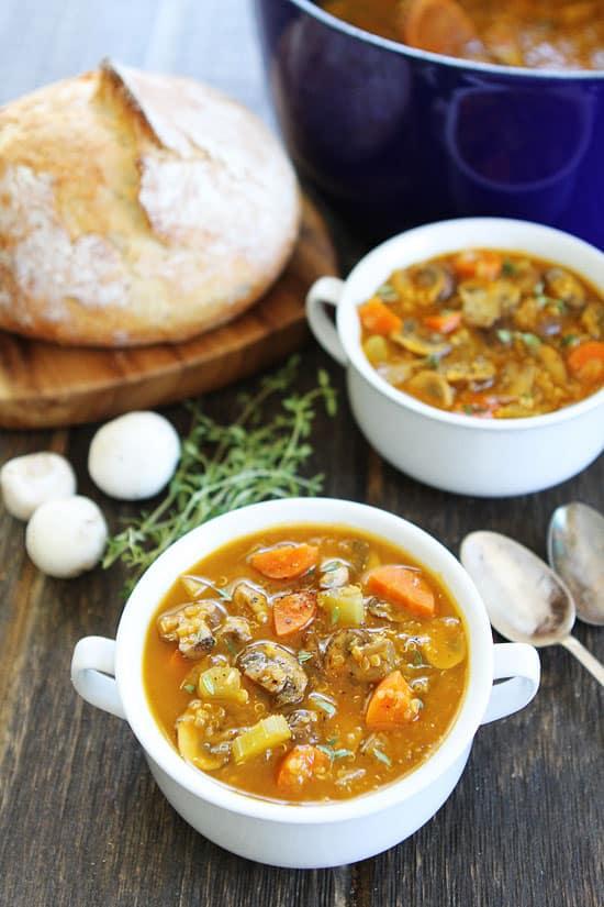 Mushroom Quinoa Soup Recipe