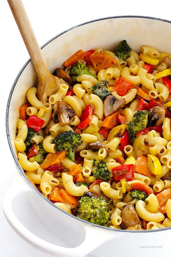 Roasted Vegetable Macaroni and Cheese Recipe