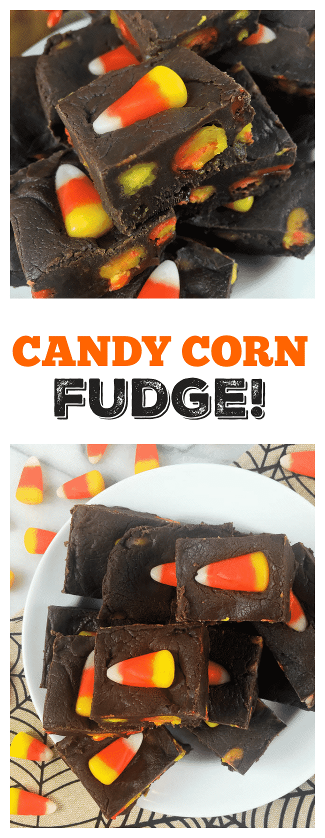 Easy Candy Corn Fudge Recipe - This easy candy corn fudge can be made in just minutes!