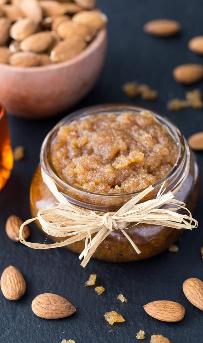 Maple Almond Sugar Scrub - Buff away those dull, tired skin cells and reveal your radiance with this easy DIY sugar scrub. It also makes a fantastic holiday gift!