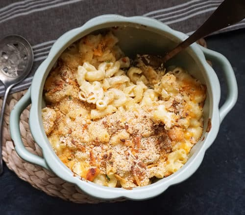 Three Cheese Brown Butter Truffle Macaroni and Cheese Recipe
