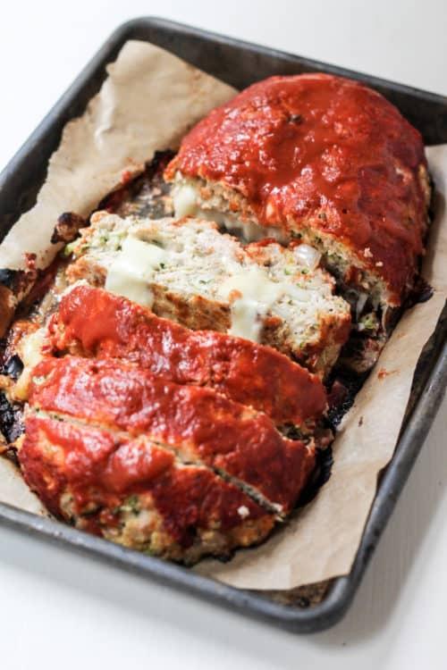 Pepper Jack Stuffed Turkey Meatloaf Recipe