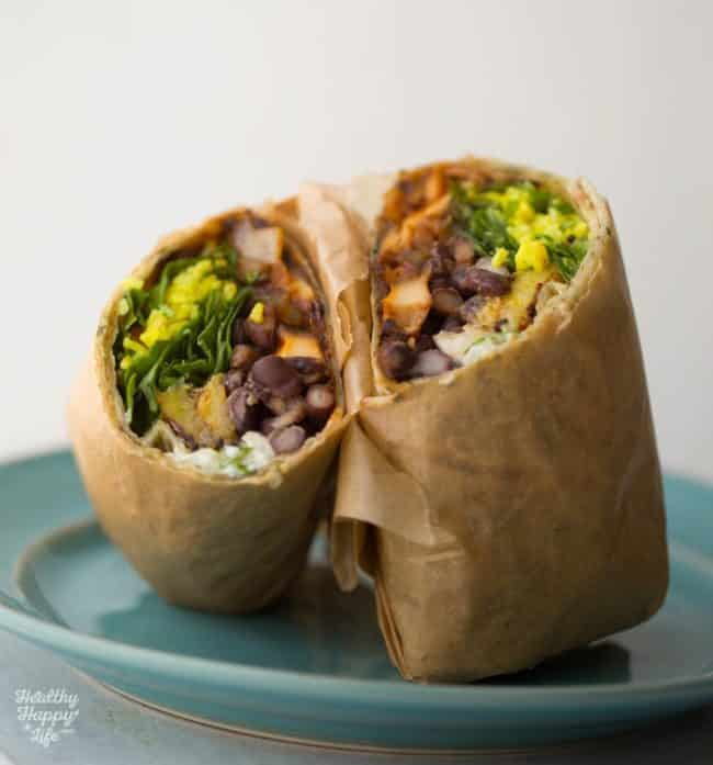 Plantain Black Bean BBQ Wraps Recipe