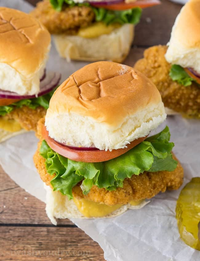 Crispy Honey Mustard Chicken Sliders Recipe