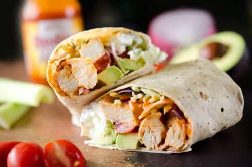 Healthy Buffalo Chicken Wraps Recipe