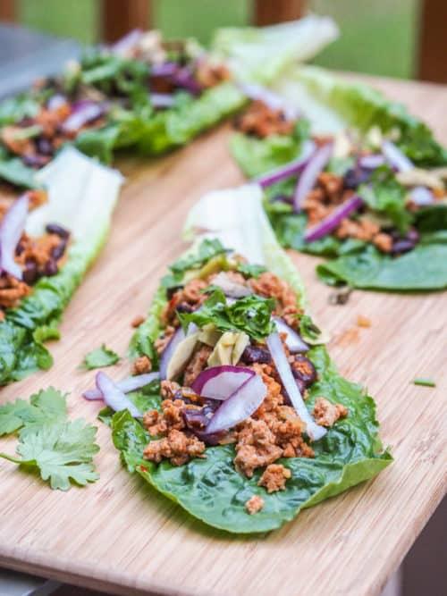 Mexican Turkey Taco Lettuce Wraps Recipe