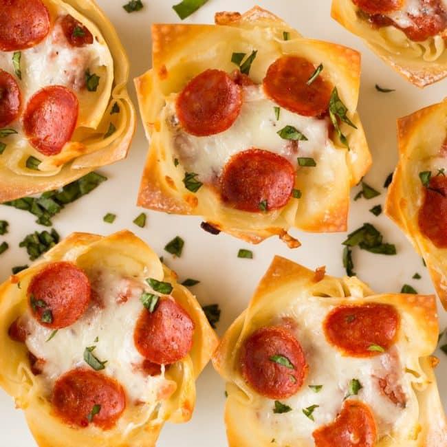 Mini Pizza Dip Cups Recipe