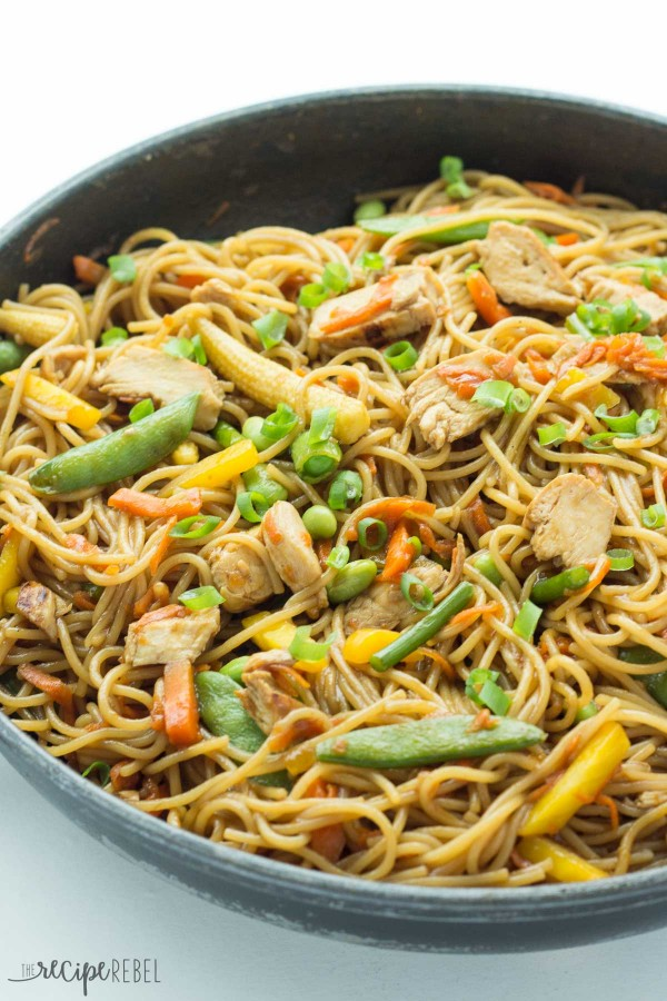 One Pot Chicken Chow Mein Recipe