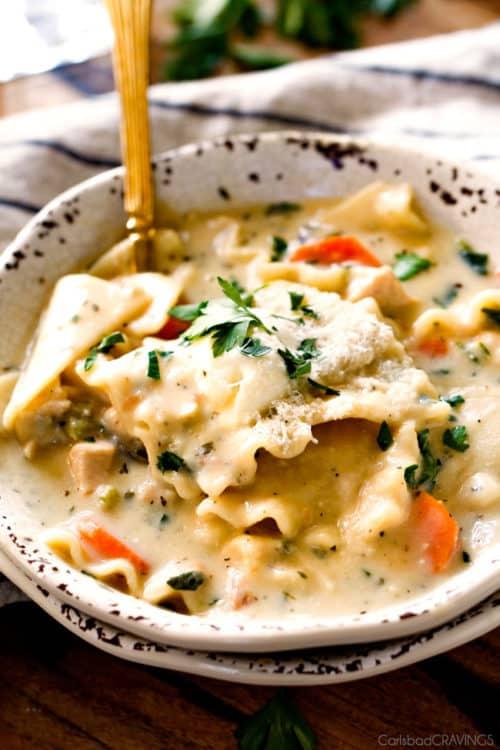 White Chicken Lasagna Soup Recipe
