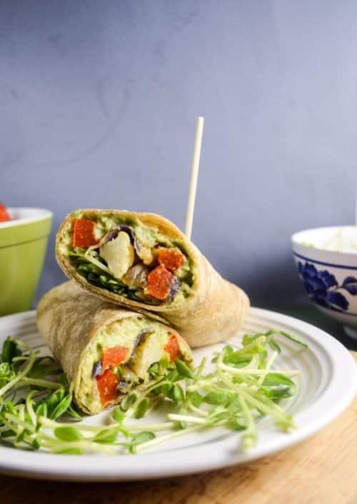 Roasted Vegetable Avocado Garden Wraps Recipe