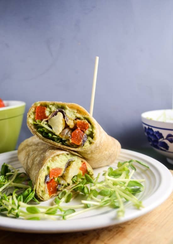 Roasted Vegetable Avocado Garden Wraps Recipe