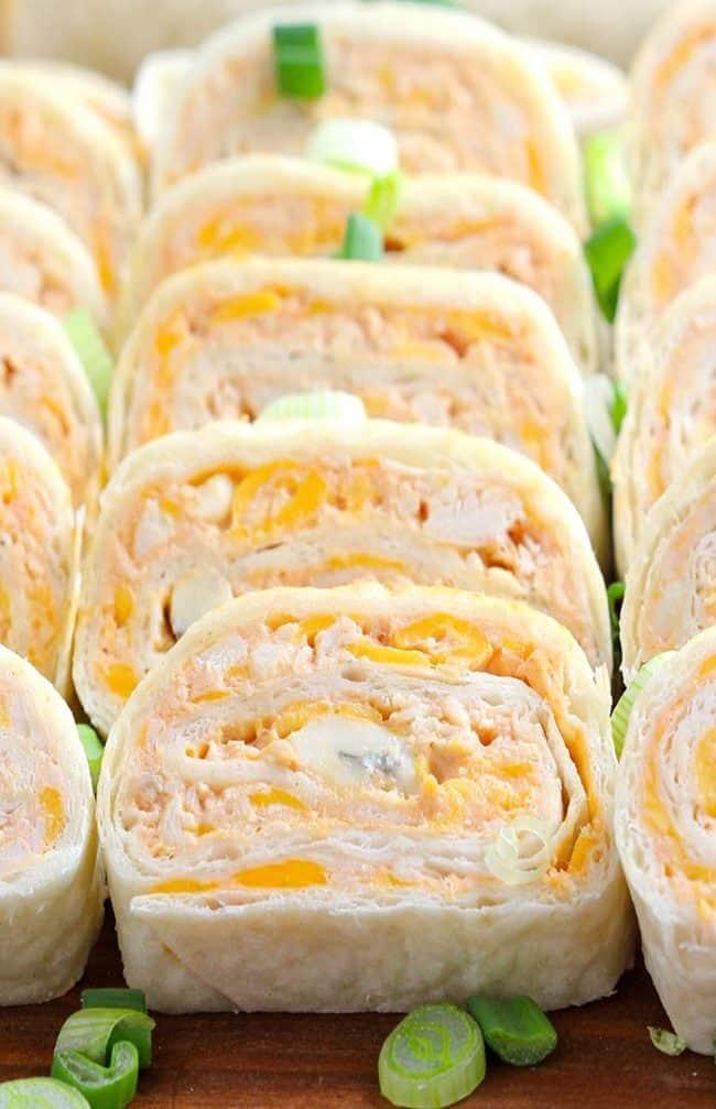 Buffalo Chicken Tortilla Roll Ups Recipe