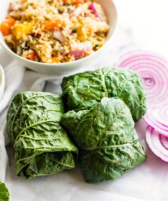 California Quinoa Salad Collard Wraps Recipe