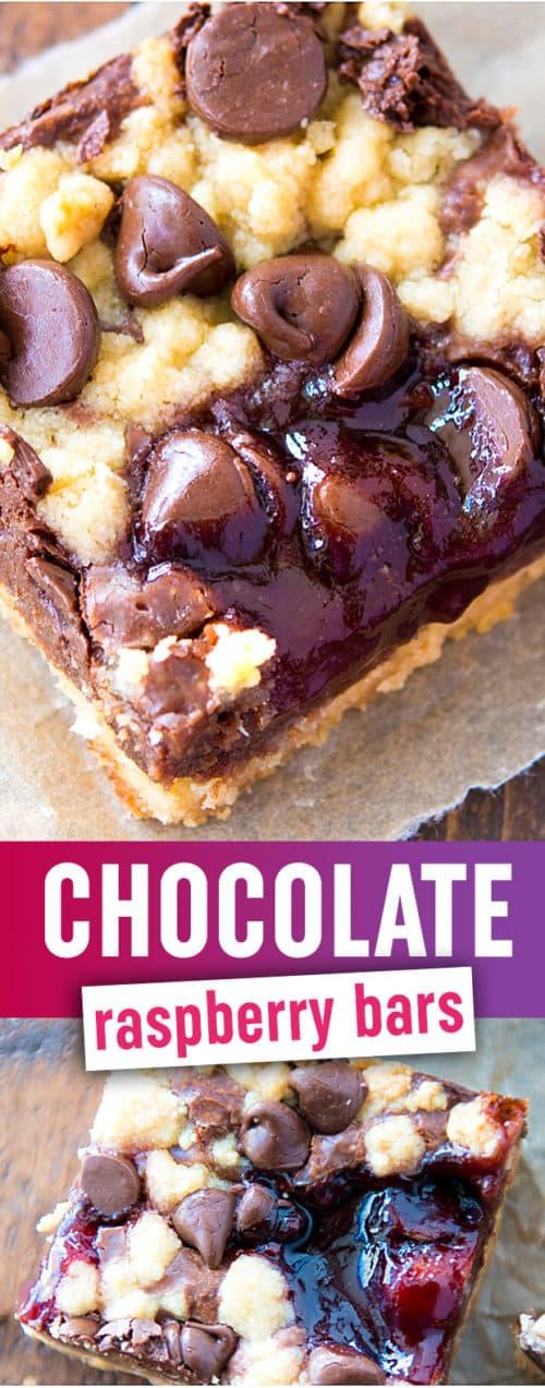 Chocolate Raspberry Bars - These chewy, goooey dessert bars are like chocolate heaven with a raspberry jam twist. SO GOOD.