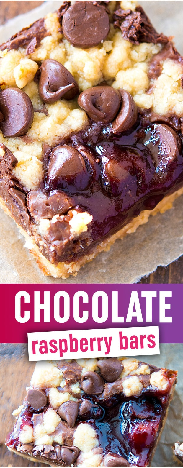 Chocolate Raspberry Bars - These chewy, goooey dessert bars are like chocolate heaven with a raspberry jam twist. SO GOOD.