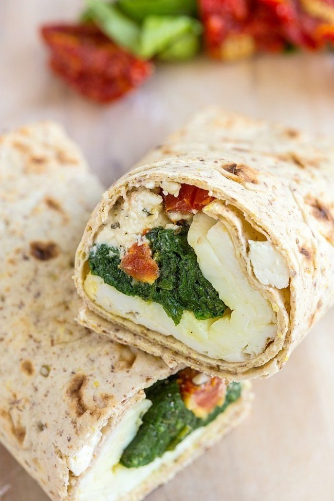 Copycat Starbucks Spinach And Feta Breakfast Wrap Recipe