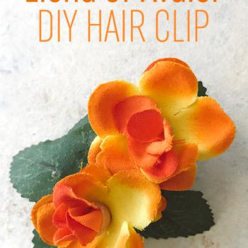 Elena of Avalor DIY Flower Hair Clip Tutorial