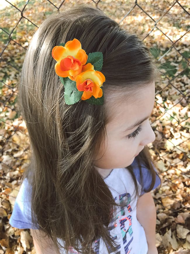 Elena of Avalor DIY Flower Hair Clip Tutorial