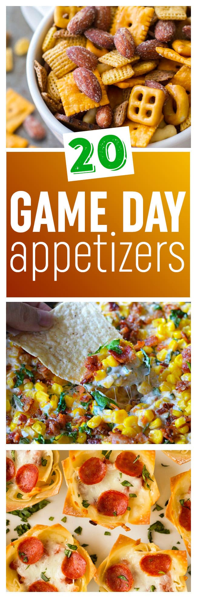 20 Winning Game Day Appetizer Recipes - These easy and delicious game day appetizers will please your whole crew!