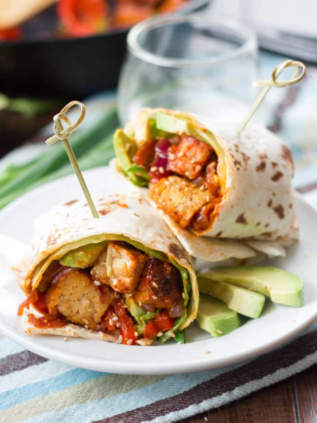 Korean Barbecue Tempeh Wraps Recipe