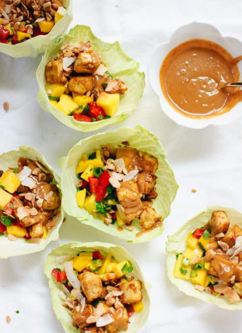 Thai Mango Cabbage Wraps Recipe