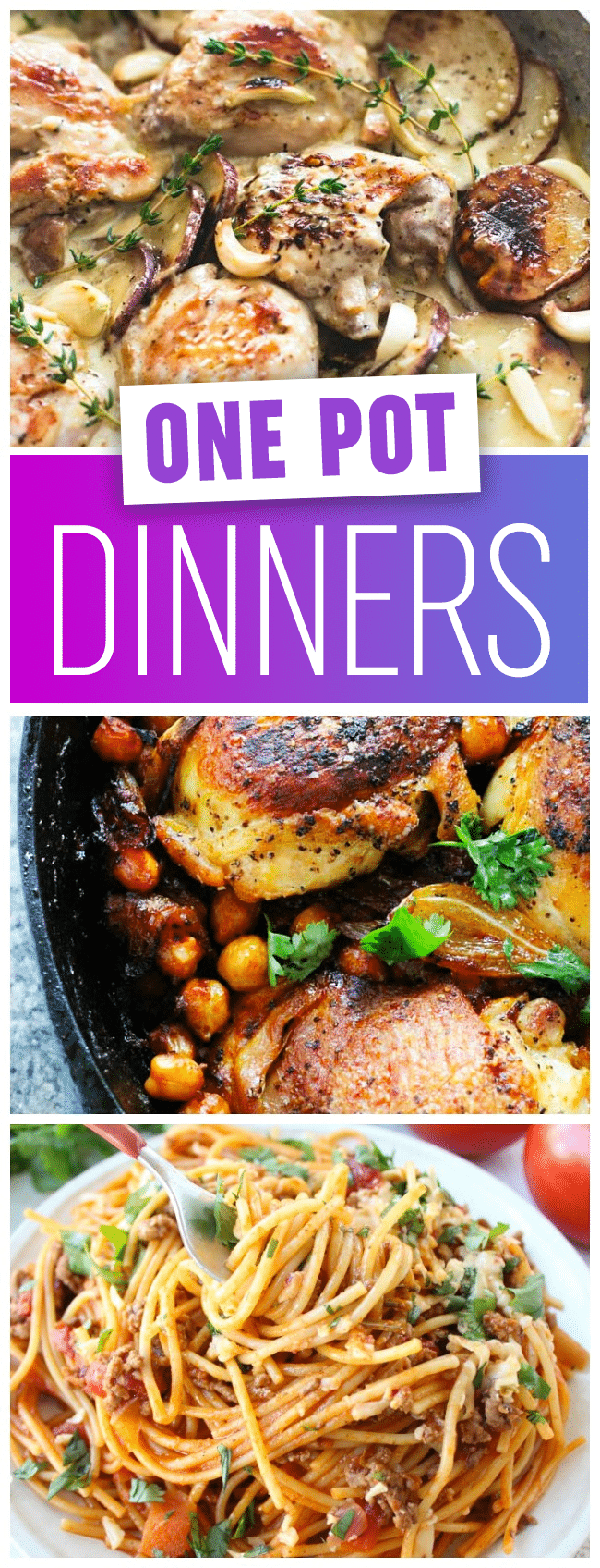 Best One Pot Dinner Recipes - Enjoy this roundup of the most delicious and easy one pan dinner recipes, all perfect for busy weeknights!