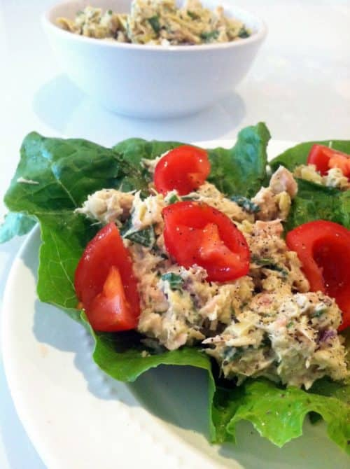 Spinach And Artichoke Tuna Lettuce Wraps Recipe