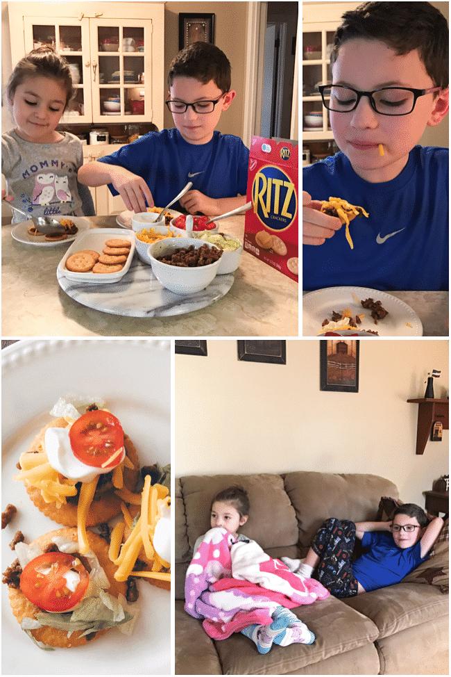 Family night fun with a RITZ Crackers taco bar!