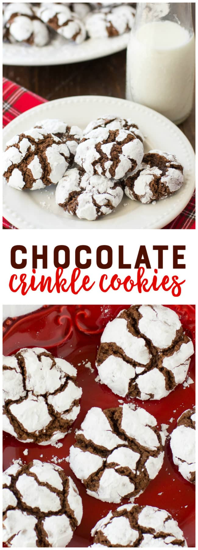 Chocolate Crinkle Cookies - These easy and delicious chocolate crinkles are a classic Christmas cookie recipe that you'll love year after year!
