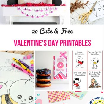 Free Valentine's Day Printables - Check out these cute and sweet free printables for Valentine's Day!