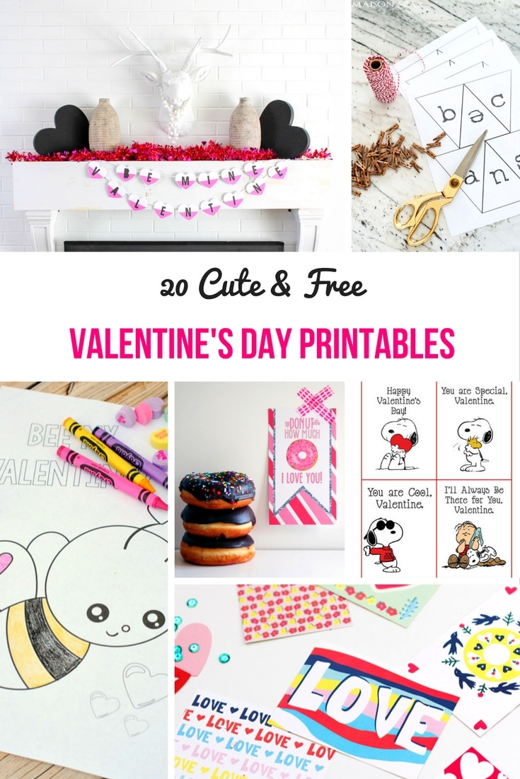 free valentine u0027s day printables cards coloring pages u0026 more
