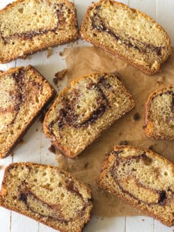This quick and easy cinnamon bread recipe is sweet, moist and swirled with flavor!