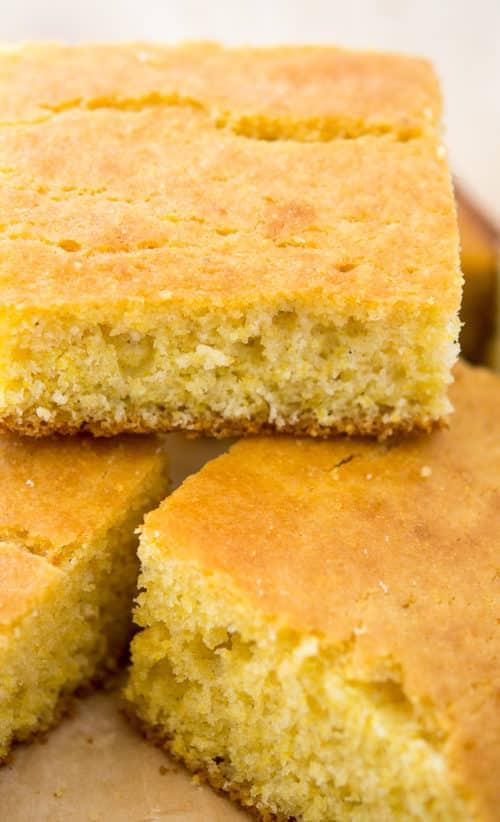 Easy Buttermilk Cornbread Recipe - This simple homemade cornbread is a winner every time!