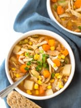 Crock Pot Spicy Chicken Soup Recipe - This easy chicken stew is perfect for your slow cooker!